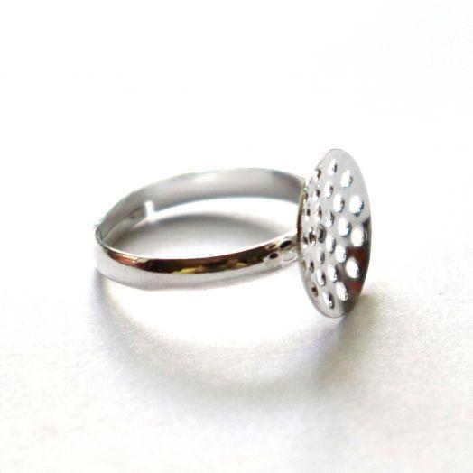 Основа для кольца, с ситечком, св. серебро