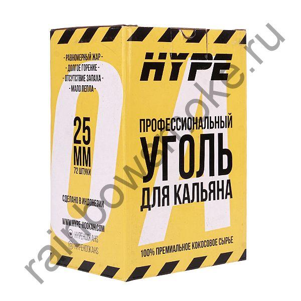Уголь кокосовый для кальяна Hype 25мм (72шт)