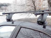 Багажник на крышу Samand Khodro, Lux, стальные прямоугольные дуги