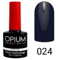 Гель-лак цветной Opium №024, 8 мл
