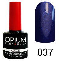 Гель-лак цветной Opium №037, 8 мл