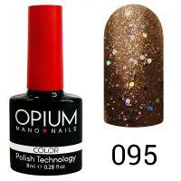Гель-лак цветной Opium №095, 8 мл