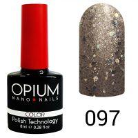 Гель-лак цветной Opium №097, 8 мл