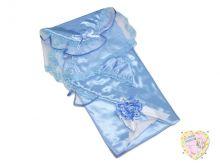 Комплект на выписку летний 5 предметов 01795-3 (атлас голубой)