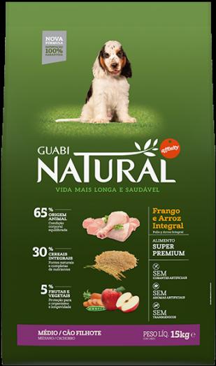 GUABI NATURAL Для Щенков Средних пород. Цыпленок и коричневый рис 15 кг ( новая упаковка )