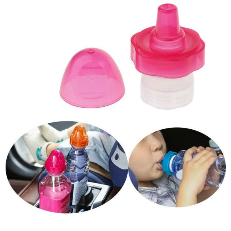 Детская насадка на бутылку Jiemu, цвет розовый