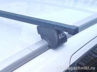 Багажник на интегрированные рейлинги Kia Ceed sw 2018-..., Евродеталь, стальные прямоугольные дуги