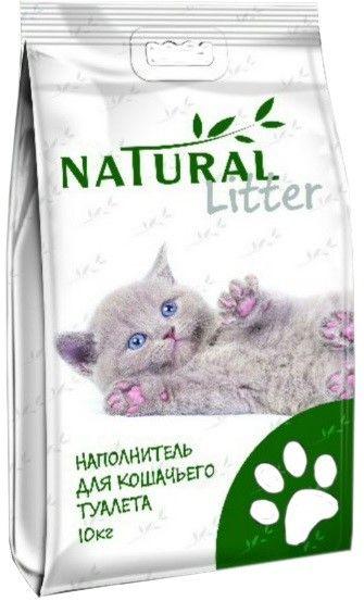 Наполнитель Natural Litter 10кг шарики крупные