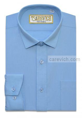 Рубашка для первоклассника 29(116-122) арт. Bell Blue длинный рукав