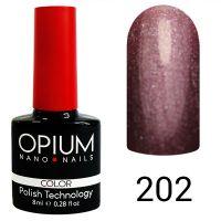 Гель-лак цветной Opium №202, 8 мл