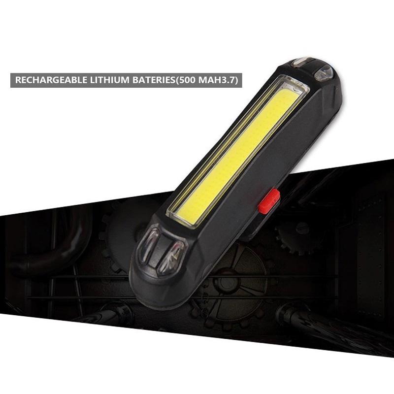 Ходовая Велосипедная Фара USB Rechargeable Head Light 100 Lumens+, Цвет Желтый
