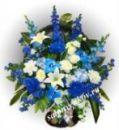 Ритуальная корзина из искусственных цветов N14, РАЗМЕР 60см, 80см,90 см