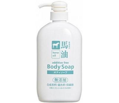 Kumano Cosmetics Horse Oil Жидкое мыло для тела увлажняющее с лошадиным маслом без отдушек 600 мл