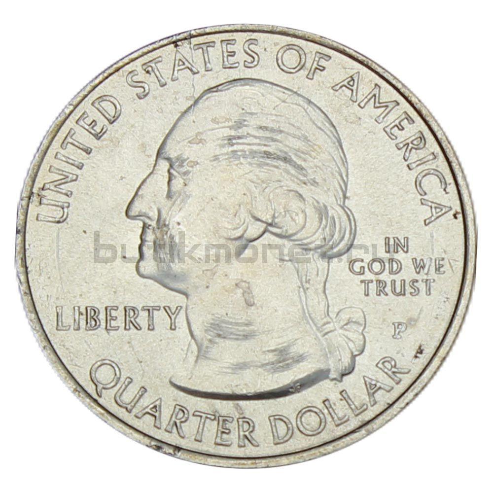 25 центов 2015 США Национальный исторический парк Саратога P