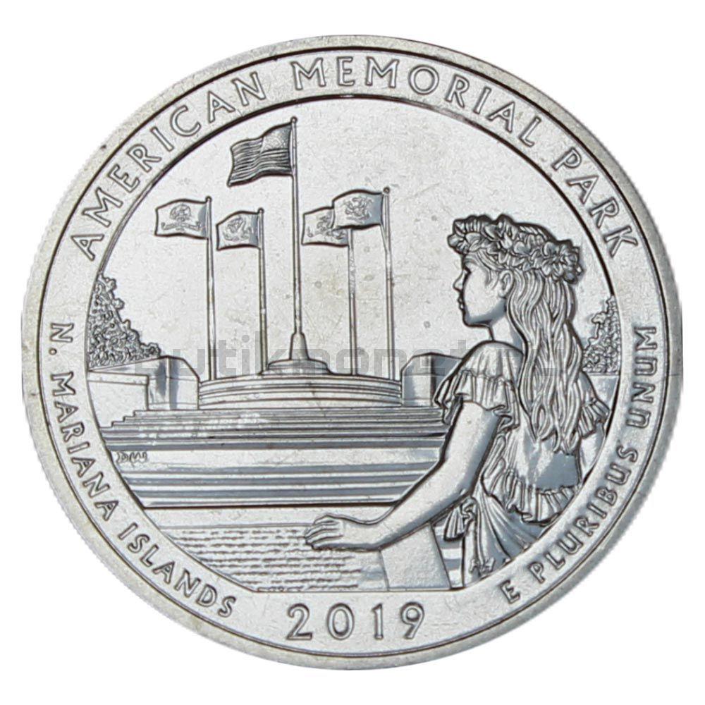 25 центов 2019 США Американский Мемориальный Парк S