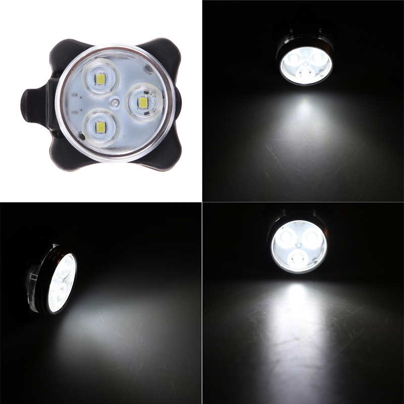 Универсальный Фонарь Для Велосипеда LED Light Combo Zecto Drive HJ-030, USB, Цвет Белый