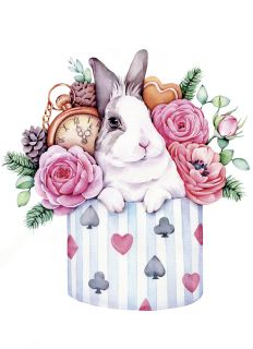 """Почтовая открытка """"Следуй за белым кроликом"""""""