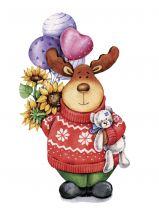 Почтовая открытка С Днем Рождения!