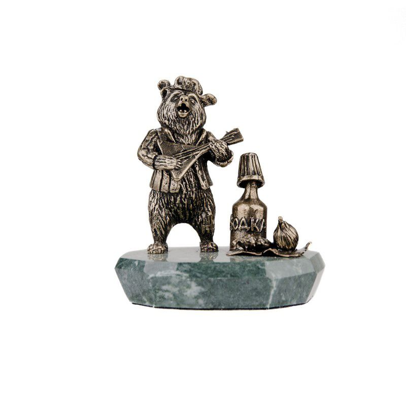 "Композиция ""Медведь с водкой"" на подставке"