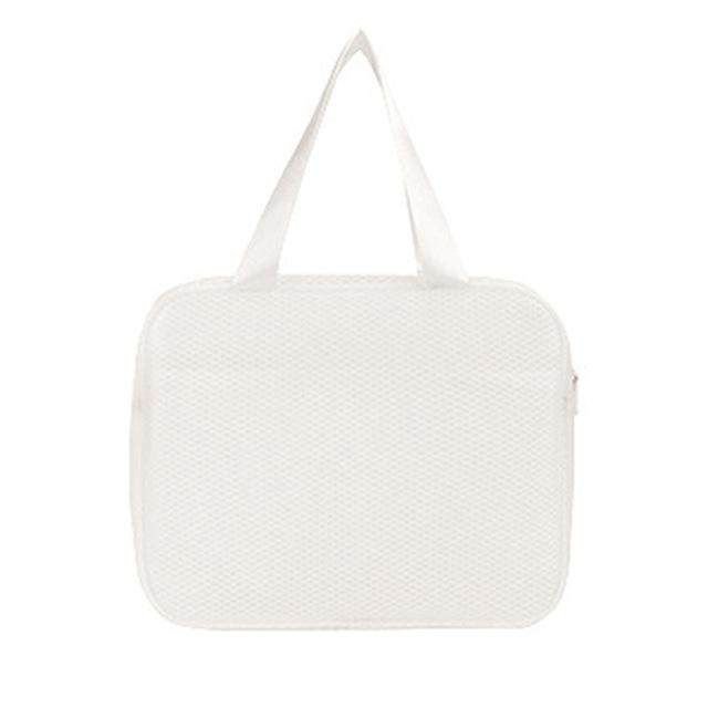 Водонепроницаемая пляжная сумка с двумя карманами Beach Bag, цвет белый