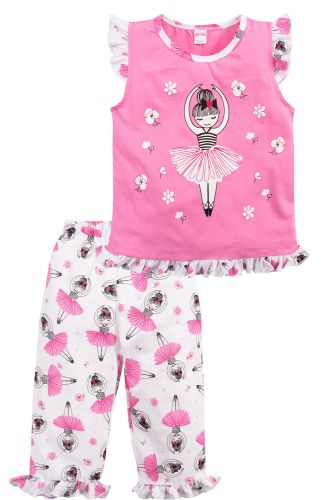 Пижама для девочек 3-7 лет Bonito розовая с балериной