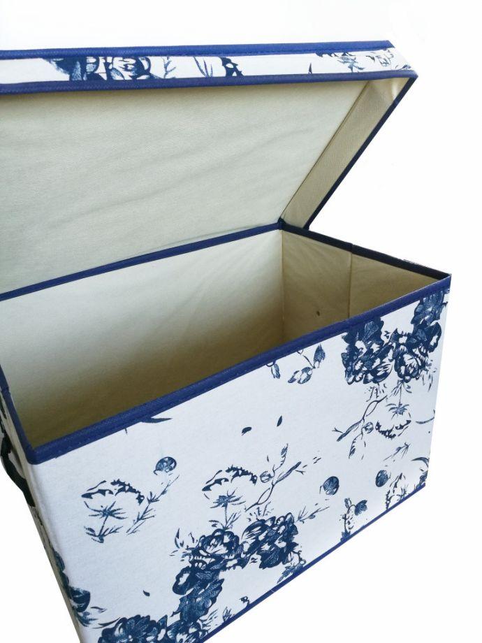 Короб для хранения вещей Love Story Of Rose, 44х29х30 см, Синий  Цветочный узор