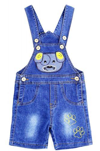 Полукомбинезон джинсовый для мальчика Bonito Jeans с собачкой