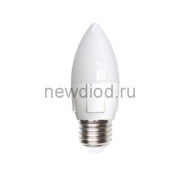 Лампа светодиодная LED-C37 СВЕЧА 7W/NW/E14/FR 4000К яркая Uniel