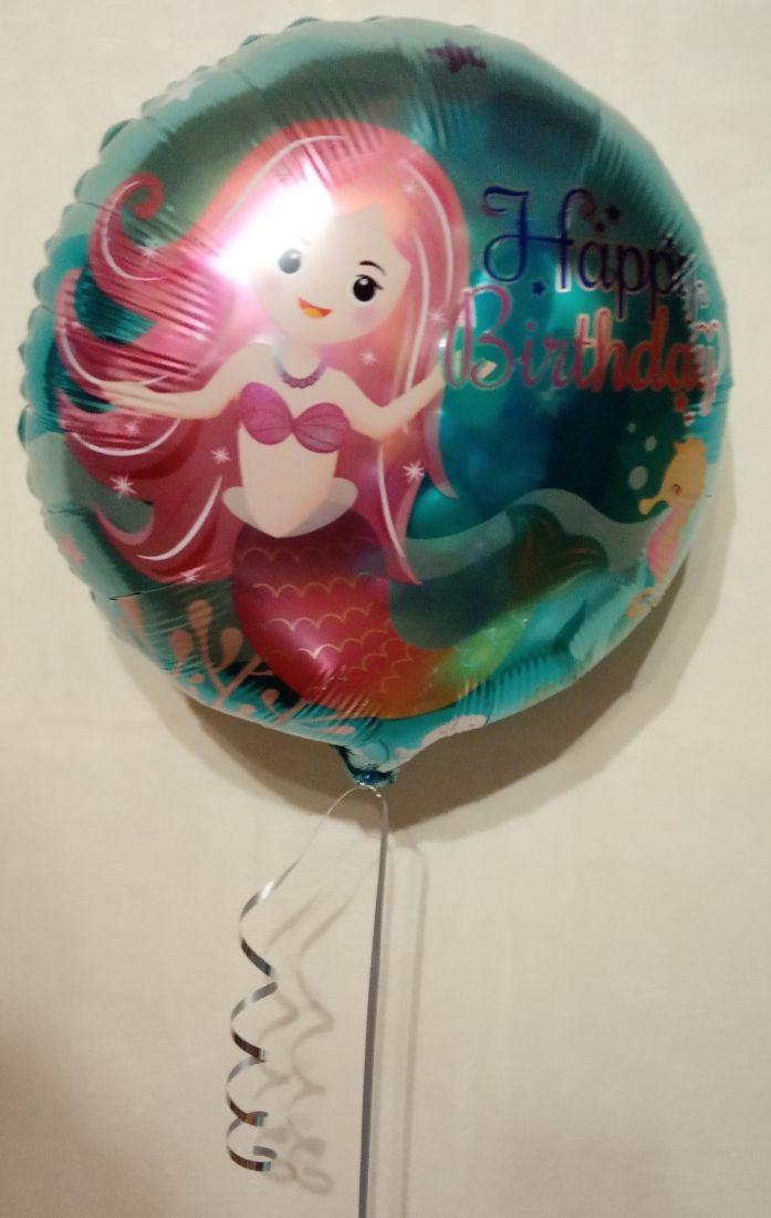 Подводная Красавица Русалочка шар фольгированный с гелием