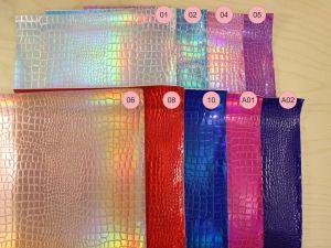 `Искусственная кожа(PU, кожзам), змеиная кожа, хамелеон, толщина 0,7мм размер A3(44*30см), Р-ИК-JD-1825A