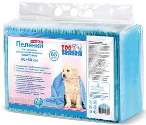 ЗОО Няня Пеленки гелевые супертонкие д/животных 60*60 65 шт.