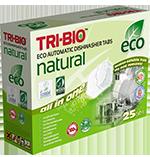 Tri-Bio Натуральные эко таблетки для посудомоечных машин 25 таблеток