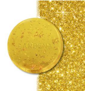 Косметическое мыло Lanbena 24K золота и с ценными маслами.(4036)