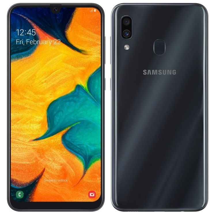 Samsung Galaxy A30 3/32GB (2019) Black (SM-A305FZKUSER)