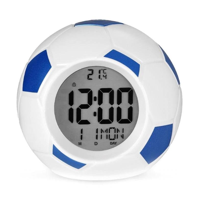 Настольные Говорящие Часы Футбольный Мяч Atima AT-609TR, Цвет Синий
