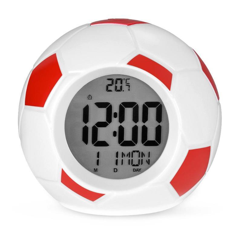 Настольные Говорящие Часы Футбольный Мяч Atima AT-609TR, Цвет Красный