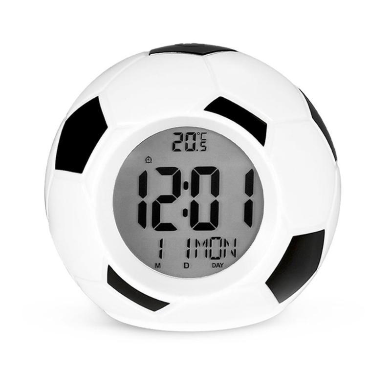 Настольные Говорящие Часы Футбольный Мяч Atima AT-609TR, Цвет Черный
