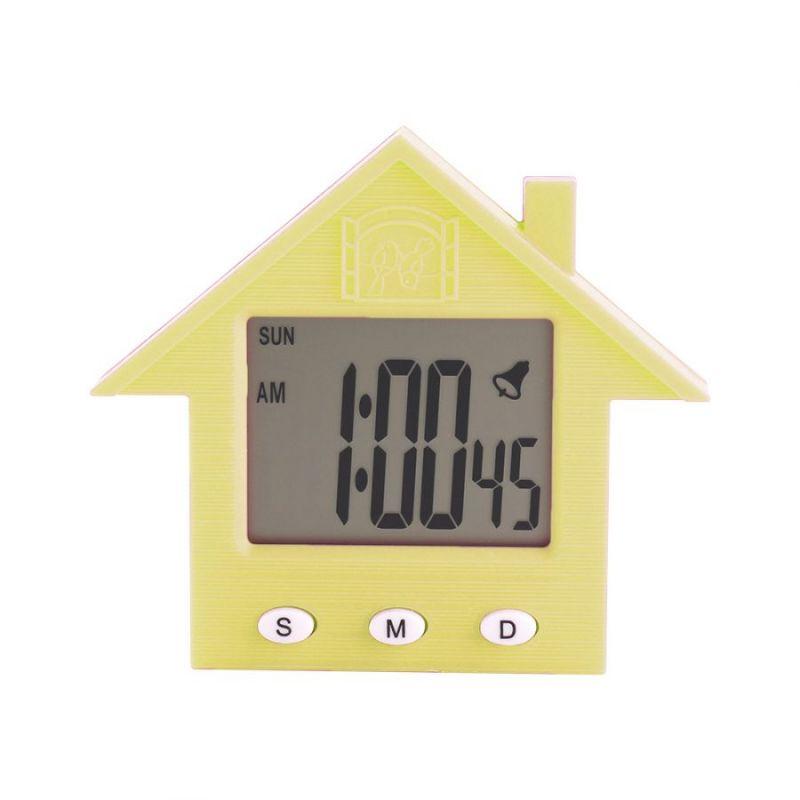 Электронные Часы-Будильник С Магнитом Домик NA-1638A, Цвет Желтый