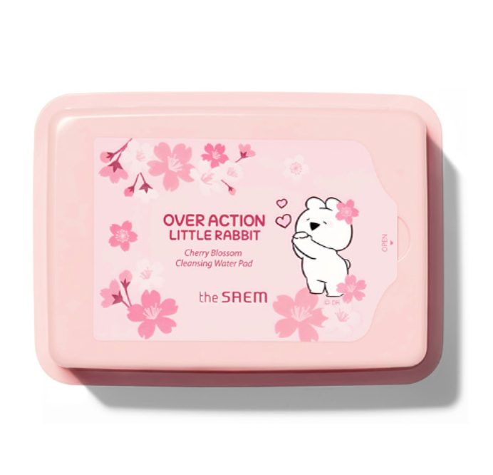 Очищающие салфетки The Saem Healing Tea Garden Cherry Blossom Cleansing Water Pad 230гр