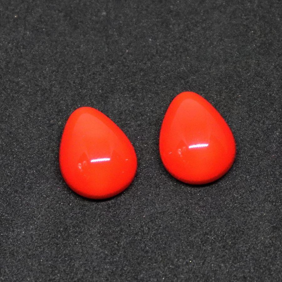 Кабошон, Капля стекло Preciosa, 18*13 мм, Красный, 2 шт/упак