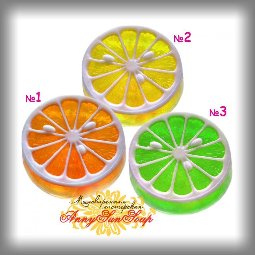 """Цитрусовое мыло без люфы: """"Апельсин"""", """"Лимон"""", """"Лайм"""""""
