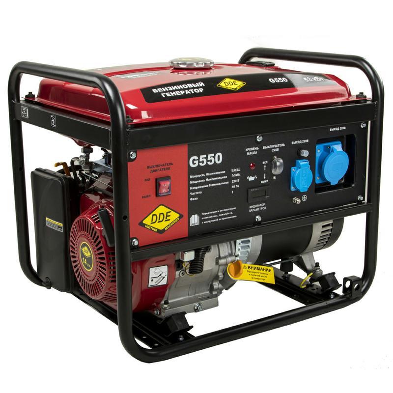Бензиновая электростанция DDE G550