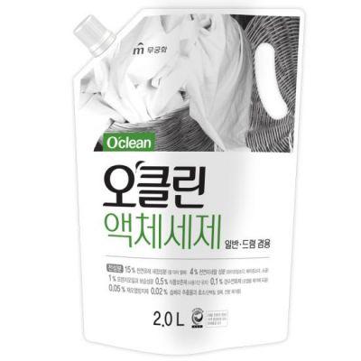 """Жидкое средство д/стирки """"O'Clean"""" 100%-органическое, на основе мыльного дерева и соды, 2л мягкая упаковка"""
