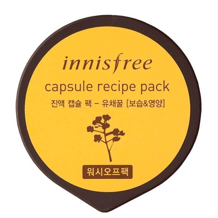 Капсульная маска для лица с экстрактом рапсового меда Innisfree  Capsule Recipe Pack Canola Honey