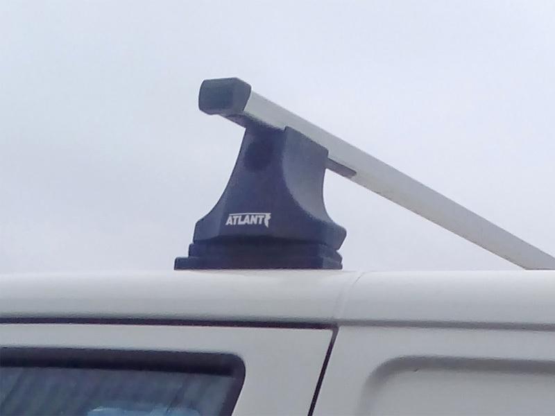 Багажник на крышу Volkswagen Transporter T5 (2003-16), Атлант, прямоугольные дуги