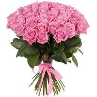 Букет из розовых роз (50 см)