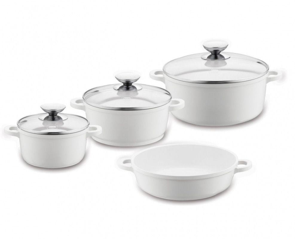 набор посуды, 4 пр. VARIO CLICK INDUCTION WHITE, Berndes
