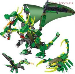 Конструктор LELE Ninja Зеленый дракон трансформер 31157 (Аналог Lego Ninja) 660 дет