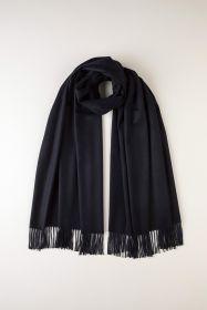 Роскошная классическая шотландская  шаль, высокая плотность, 100 % драгоценный кашемир ,Темно-синий цвет DARK NAVY CLASSIC CASHMERE STOLE (премиум)