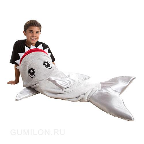 Одеяло-плед Акула, 120х48 см